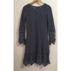 Mikarose Lydia light blue lace dress